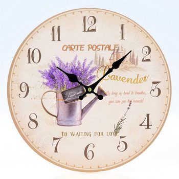 Design Clocks - Lavender / Carte Postale Kello