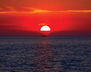 Auringonlasku Kuvatapetti