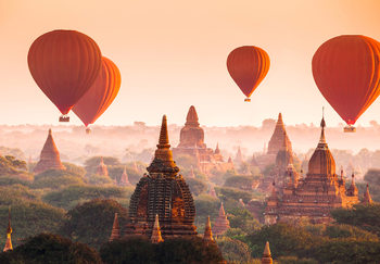 Ballons over Bagan Kuvatapetti, Tapettijuliste