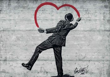 Kuvatapetti, TapettijulisteBanksy Graffiti Concrete Wall