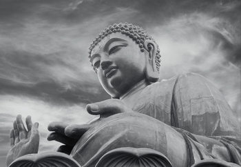 Buddha - Black and white Kuvatapetti, Tapettijuliste