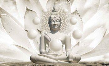 Kuvatapetti, TapettijulisteBuddha Zen Spheres Flower 3D