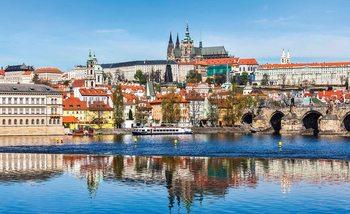 Kuvatapetti, TapettijulisteCity Prague Bridge River Cathedral