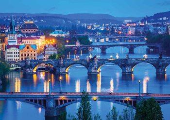 Kuvatapetti, TapettijulisteCity Prague River Bridges