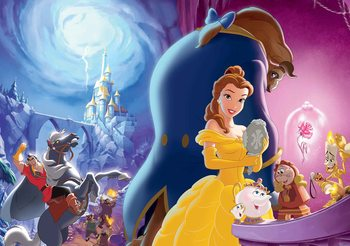 Disney Princesses Belle Beauty Beast Valokuvatapetti