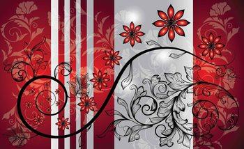 Kuvatapetti, TapettijulisteFlowers Floral Pattern
