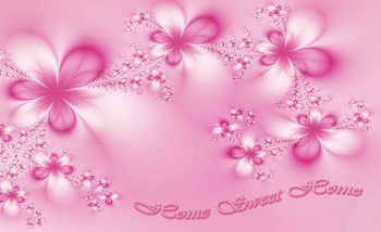 Flowers Home Pink Valokuvatapetti
