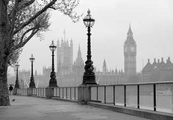 LONTOO - LONDON - fog Kuvatapetti, Tapettijuliste