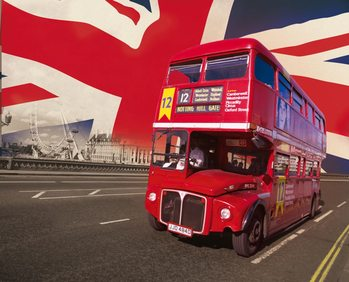 Lontoo - lontoon bussit Kuvatapetti, Tapettijuliste