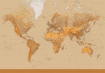 Maailmankartta - Antiikkinen Kuvatapetti, Tapettijuliste