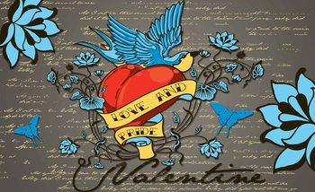 Kuvatapetti, TapettijulisteOld School Valentine Tattoo
