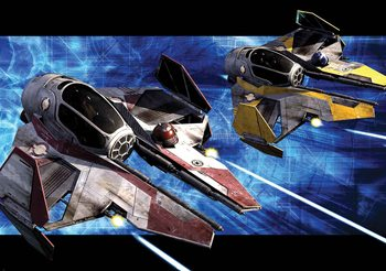 Kuvatapetti, TapettijulisteStar Wars Obi Anakin Jedi Starfighters