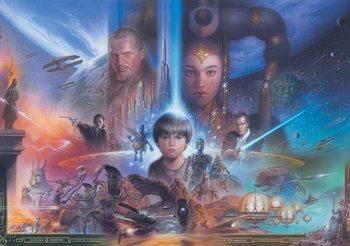 Kuvatapetti, TapettijulisteStar Wars Young Anakin Queen Amidala