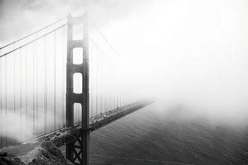 Lasitaulu San Francisco - Golden Gate in Mist