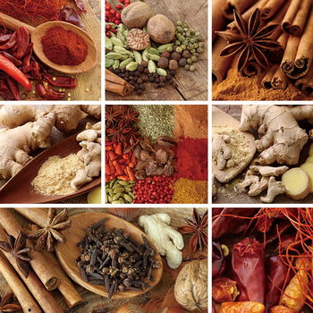 Lasitaulu Spice - Collage