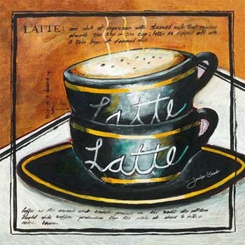 LATTE Reproduction d'art