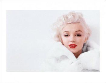 Marilyn Monroe - White Reproduction d'art
