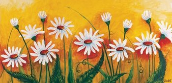Meadow of daisies Reproduction d'art