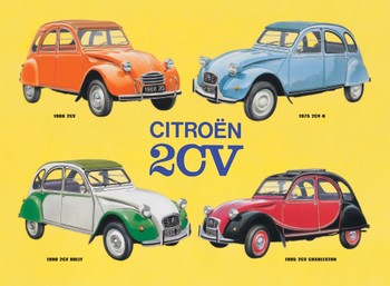 2CV COLLAGE Metal Sign