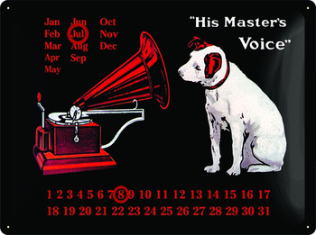 3D HMV CALENDAR Metal Sign