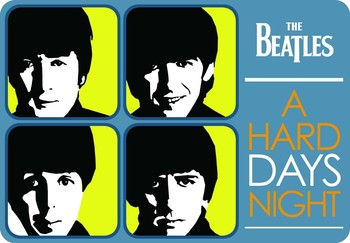A HARD DAY'S  NIGHT Metal Sign