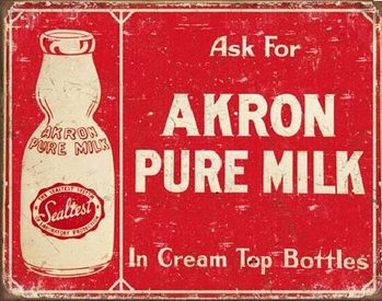 AKRON - Pure Milk Metal Sign