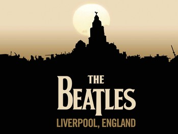BEATLES LIVERPOOL Metal Sign