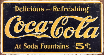 COKE VINTAGE LOGO Metal Sign