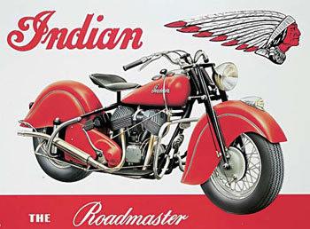 INDIAN ROADMASTER Metal Sign