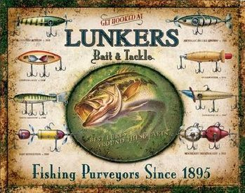 LUNKER'S LURES Metal Sign