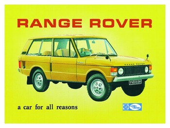 RANGE ROVER Metal Sign