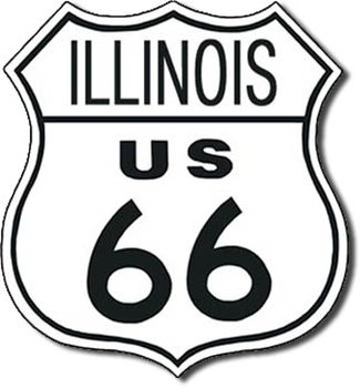 ROUTE 66 - illinois Metal Sign