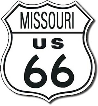 ROUTE 66 - missouri Metal Sign