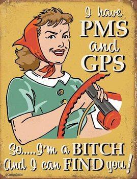 Schonberg - PMS & GPS Metal Sign