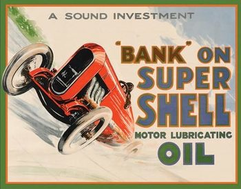 Shell - Bank On Metal Sign