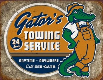 Torque - Gator's Towing Metal Sign
