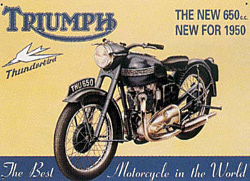 TRIUMPH THUNDERBIRD Metal Sign