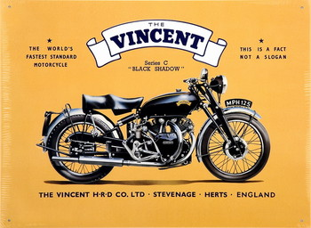 VINCENT BLACK SHADOW Metal Sign