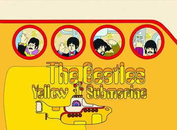 YELLOW SUBMARINE Metal Sign