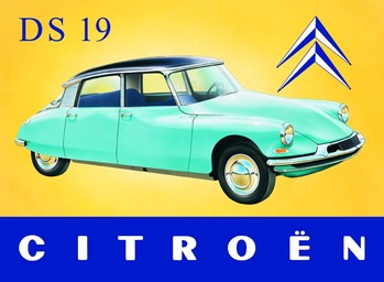 Metalllilaatta CITROËN DS