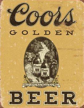 Metalllilaatta Coors - Golden Beer