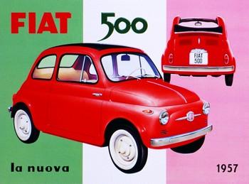 Metalllilaatta FIAT 500