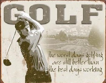 Metalllilaatta GOLF - best days