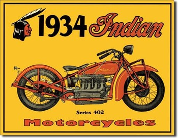Metalllilaatta INDIAN - motorcycles