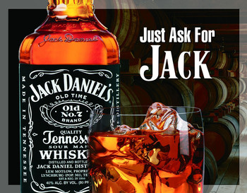 Metalllilaatta JACK DANIEL'S  ASK FOR JACK