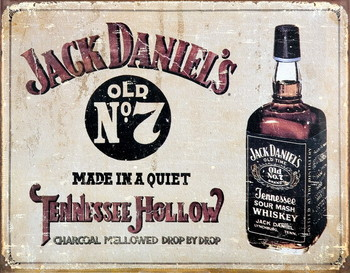 Metalllilaatta JACK DANIEL'S  TENNESSEE