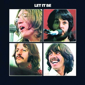 Metalllilaatta LET IT BE ALBUM COVER