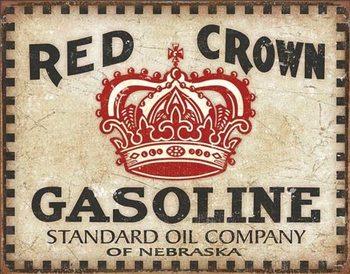 Metalllilaatta Red Crown - Checker