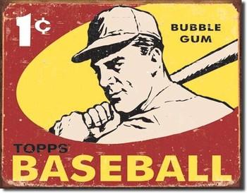 Metalllilaatta TOPPS - 1959 baseball