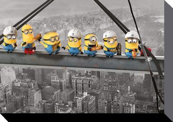Minions (Despicable Me) - Minions Lunch on a Skyscraper Canvas Print